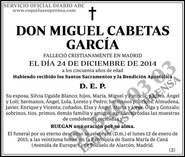 Miguel Cabetas García